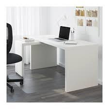 Malm Bureau Met Uittrekbaar Blad Wit Ikea Ikea Bureau