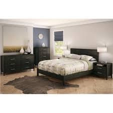 modern queen bedroom set simple platform bed 2 drawer nightstand 6