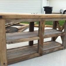 salvaged wood console table barnwood console table barn wood x console table brook industrial