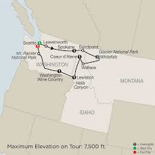 Oregon Wine Country Map by Globus Tours 2018 Globus Usa And Canada Tours Tours Safe