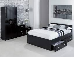 carleton bedroom furniture caspian high gloss double bed black