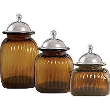kitchen glass canisters with lids artland 3 glass canister set with