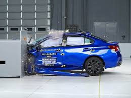 subaru wrx sport 2015 2015 subaru wrx driver side small overlap iihs crash test youtube
