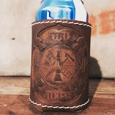 huggie drink 39 best leather coozie images on leather working ale