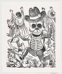 pixel halloween skeleton background file a skeleton holding a knife leaping over a pile of skulls
