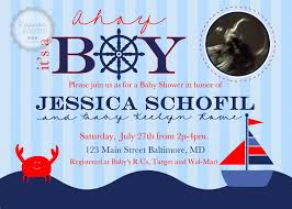 nautical baby shower invitations nautical baby shower invitations free invitations ideas