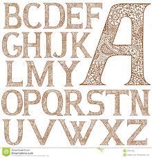 paisley henna alphabet royalty free stock image image 31004106
