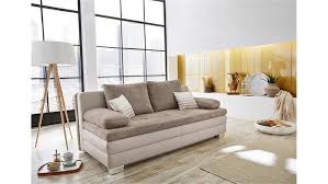 schlafsofas von poco lincoln schlafsofa sofa in greige mit topper