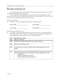 Categorize And Classify Worksheets P Dog U0027s Blog Boring But Important Astronomy In Class Activity