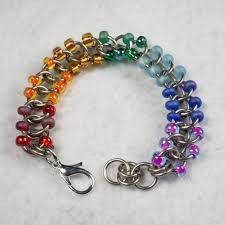 bracelet beaded images Beaded stainless steel bracelet a case of random jpg