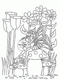 butterfly and spring music coloring page for kids seasons