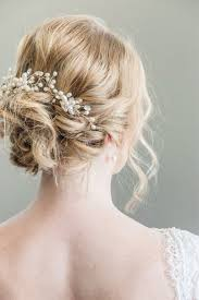 bridal hair bun 32 beautiful and refined bridal hair vine ideas weddingomania