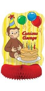 curious george party curious george party supplies kit for 8 toys
