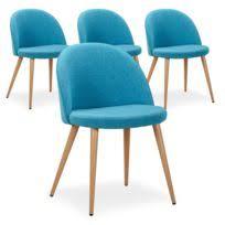 lot 4 chaises pas cher cote cosy lot de 4 chaises scandinaves gilda tissu vert pas cher