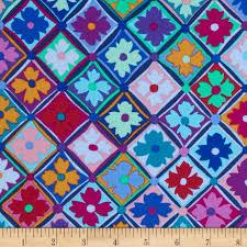 kaffe fassett home decor fabric kaffe fassett antwerp flowers blue discount designer fabric