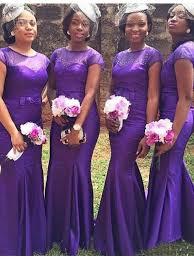 buy mermaid jewel short sleeves purple long bridesmaid dress with