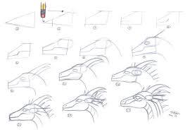 easy dragon head tutorial 1 stole deviantart