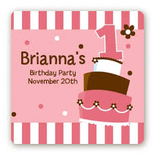 birthday stickers 1st birthday topsy turvy pink cake birthday party stickers candles