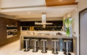 kitchen decorating design ideas using square pedestal silver metal