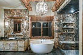 nature inspired master bathroom with freestanding bathtub beck