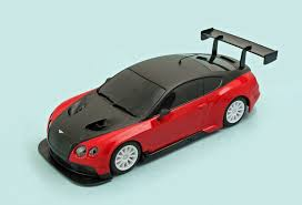 bentley black and red bentley continental gt3 slot car portal com