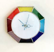 wall clock stained glass clock personalized clock glass wall