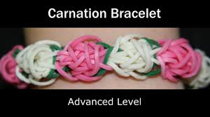 rainbow loom carnation bracelet youtube