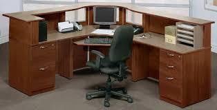 Wrap Around Computer Desk Receptionist U0027s Custom Desk