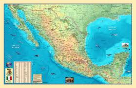 Mexico City Mexico Map by Mexico Physical Wall Map Central And Southamerica Wall Maps