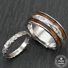 wedding ring set pair of engraved platinum and sterling silver wedding ring