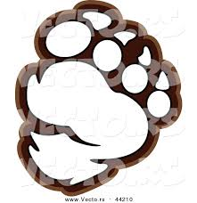 vector bear paw outlined coloring chromaco 44210
