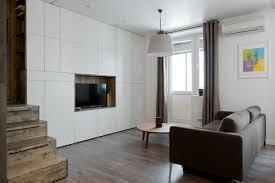 Minimalist Apartment Studio Bazi Creates Sleeping Box For Minimalist Apartment In Moscow
