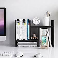 Desk Organizer Shelves Adjustable Wood Desktop Storage Organizer