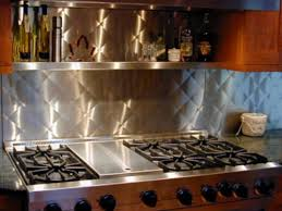 Kitchen With Stainless Steel Countertop And Backsplash  SMITH Design - Stainless steel backsplash reviews
