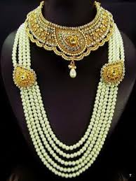 gold bridal set pearl gold 10 pcs complete kundan bridal set 2172110 weddbook