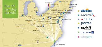 Newark Ohio Map by Myrtle Beach International Airport Destinations