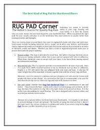 the best of rug pad for hardwood floors