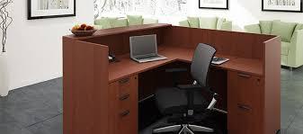 Free Standing Reception Desk Modular Office Furniture Installation Workstations Space Planning