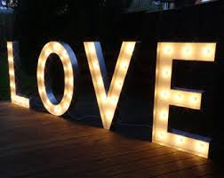 light up letters etsy