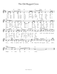 the old rugged cross musescore