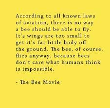 bee movie script laws aviation