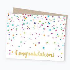 congratulations card confetti congratulations greeting card