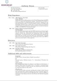 Example Resume Australia by Resume Example Resume Template Outline Format For Resume Outline