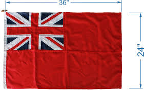 British Flag With Red Stitched Red Ensign Flag British Flags Red Ensign Woven Mod