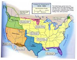 map us expansion american expansion 1818 1853 map united states mappery