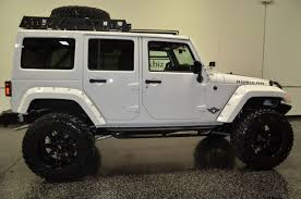 white jeep wrangler unlimited lifted 2015 jeep unlimited rubicon tag road white arm lift