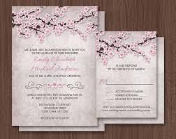 cherry blossom wedding invitations cherry blossom wedding invitations pink rustic vintage design