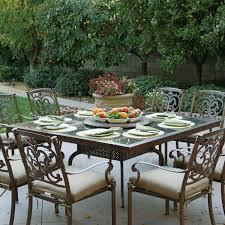 Cast Aluminum Patio Furniture Sets - amazon com darlee santa barbara 9 piece cast aluminum patio
