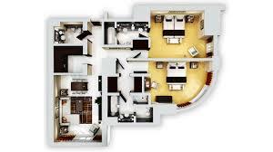 Hotel Guest Room Floor Plans by Grosvenor House Dubai 2 Bedroom Residence Apartments Dubai