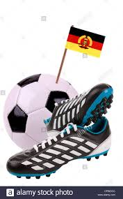 buy football boots germany pair of cleats or football boots with a small flag of east germany
